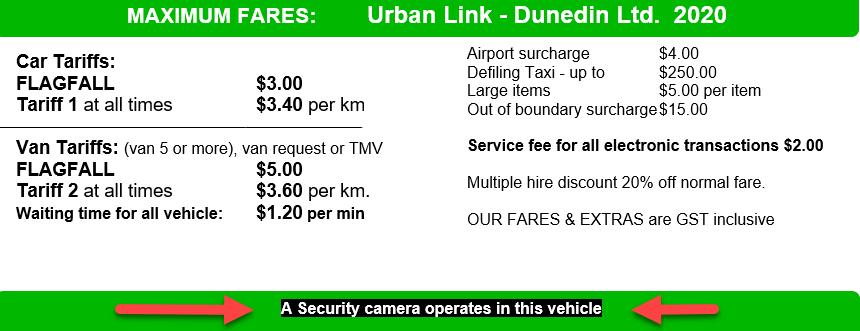Urban Link fares